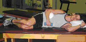 prone external rotation