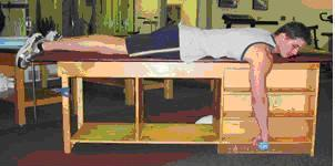 prone row with external rotation
